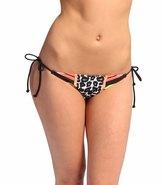 Fox Forced Ruched String Bikini Bottom 8113017