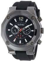 August Steiner Men's Sporty Multifunction Watch with Black Silicone Strap AS8080BK