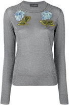 Dolce & Gabbana hydrangea appliqué jumper