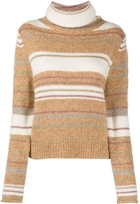 See by Chloe Stripe Roll-Neck Jumper