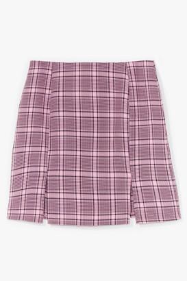 Nasty Gal Womens That Checks Out Slit Mini Skirt - Pink