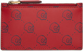 Gucci Red GucciGhost Card Holder