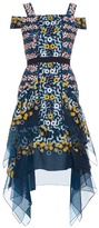 Peter Pilotto Japanese abstract-embroidered silk-organza dress