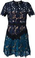 Self-Portrait 'Prairies' dress - women - Cotton/Polyester/Spandex/Elastane - 10