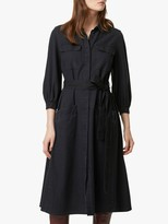 French Connection Luisa Chambray Shirt Dress, Black