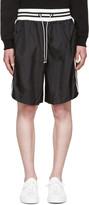 Giuliano Fujiwara Black Striped Basket Shorts