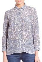 Max Mara Marica Floral Silk Shirt