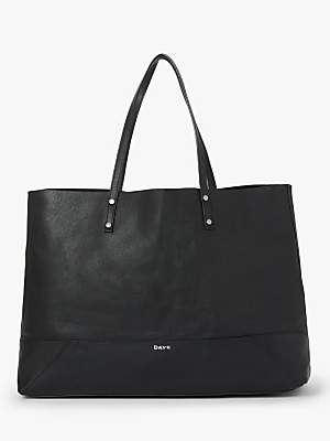 DAY et Shine Leather Shopper Bag, Black