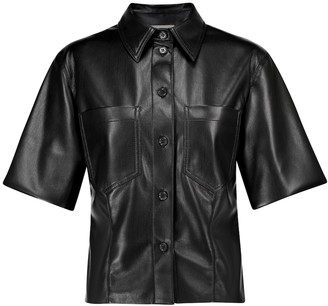 Nanushka Sabine faux-leather shirt