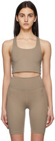 Thumbnail for your product : Girlfriend Collective Beige Paloma Sports Bra