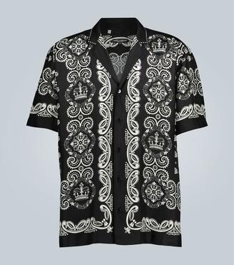 Dolce & Gabbana Bandanna-print silk shirt
