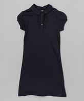 Izod Navy Polo Dress - Girls
