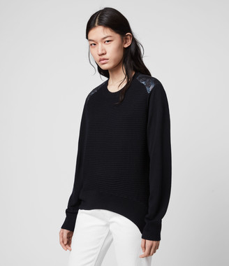 AllSaints Baya Hatsukoi Merino Wool Jumper