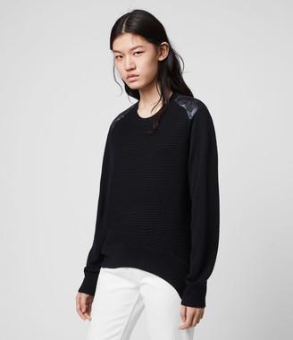 AllSaints Baya Hatsukoi Merino Wool Sweater