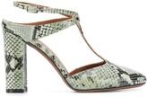 L'Autre Chose T-bar python sandals
