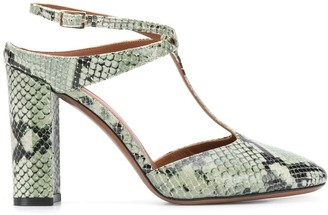 L'Autre Chose T-bar python sandals