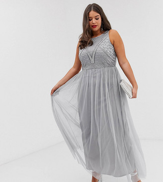 Lovedrobe Luxe all over embellished maxi dress