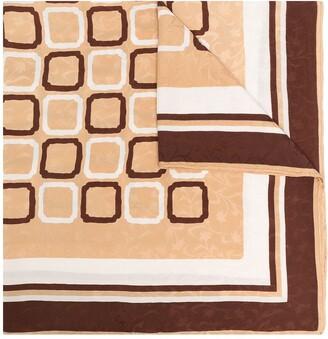 Yves Saint Laurent Pre-Owned Geometric Print Scarf