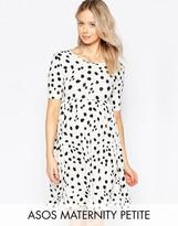 Asos PETITE Leopard Dress with Short Sleeve