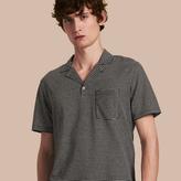 Burberry Striped Cotton Linen Polo Shirt
