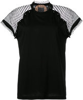 No.21 mesh panel blouse - women - Cotton/Polyester - 42