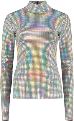 MSGM Iridescent Fabric Top