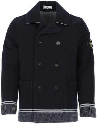 Stone Island Panno Jacquard Double Breasted Coat