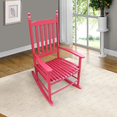 Thumbnail for your product : Red Barrel Studio Wooden Porch Rocker Chair Red