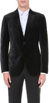 Armani Collezioni Checkerboard velvet jacket