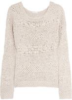 Donna Karan Open-knit crepe sweater