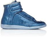 Maison Margiela Men's Future Leather Ankle-Strap Sneakers-BLUE