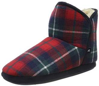 Joules Women's Cabin Hi-Top Slippers, Red (Red Check), (38/39 EU)