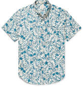 J.Crew Slim-Fit Button-Down Collar Floral-Print Slub Cotton Shirt
