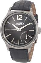 Haurex Men's Grand Class grey calfskin band watch.