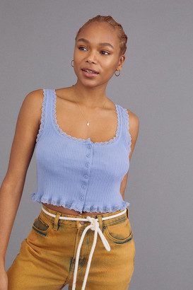 Urban Outfitters Brielle Button-Front Tank Top