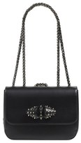 Christian Louboutin 'Small Sweet Charity' Spiked Bow Flap Shoulder Bag - Black