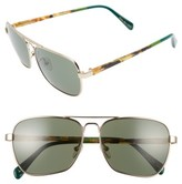 Toms Men's Navigator 201 58Mm Sunglasses - Shiny Gold