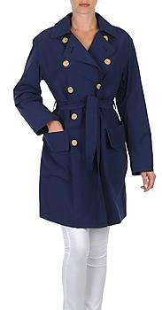 LOLA Cosmetics MALIN VENTO women's Trench Coat in Blue