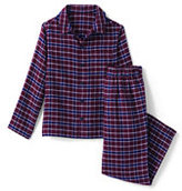 Classic Toddler Boys Flannel Sleep Set-Burgundy Plaid