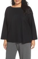 Eileen Fisher Plus Size Women's Boiled Wool Jersey Sweater