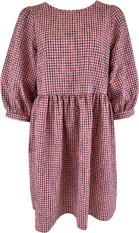 Thumbnail for your product : Margaux Pink Checked Dress - MED