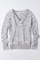 Anthropologie Marled Sheer Pullover