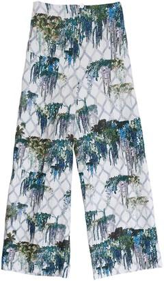 AILANTO White Wisteria Culotte Trousers