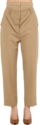 Burberry Wool Blend Trousers W/ Waist Insert