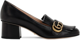 Gucci 55mm Marmont Fringed Leather Pumps