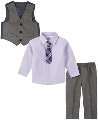 Van Heusen Baby Boy 4-Piece Cross-Hatch Sharkskin Vest Set