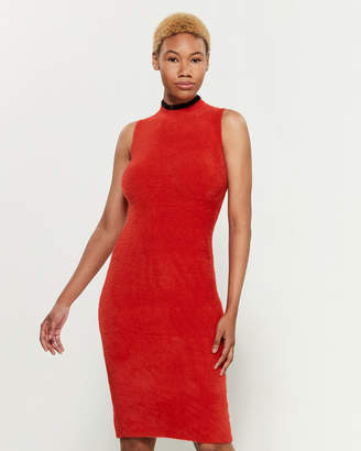 Margherita Splendid X Red Sleeveless Bodycon Sweater Dress