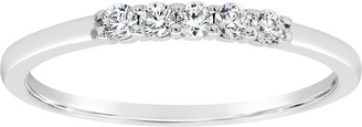Affinity Diamond Jewelry Affinity 1/6 cttw Diamond 5-Stone Band Ring, 14K Gold
