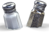 Fred & Friends Sunk-In Salt & Pepper Shakers