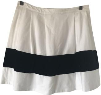 Petit Bateau White Cotton Skirt for Women